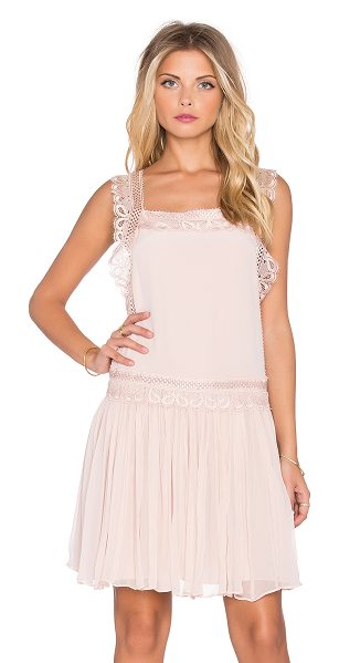 The Allflower Creative The allflower depth dress in pink - Silk blend. Dry clean only. Fully lined. Lace trim....