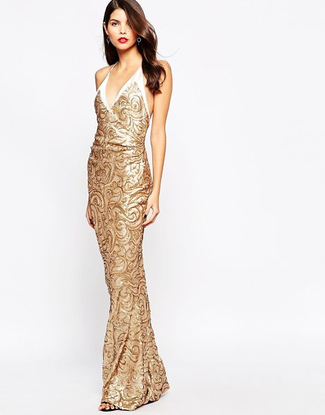 THE CRYSTAL COLLECTION BY VESPER Odessy Sequin Maxi Dress - Maxi dress by The Crystal Collection by Vesper,...