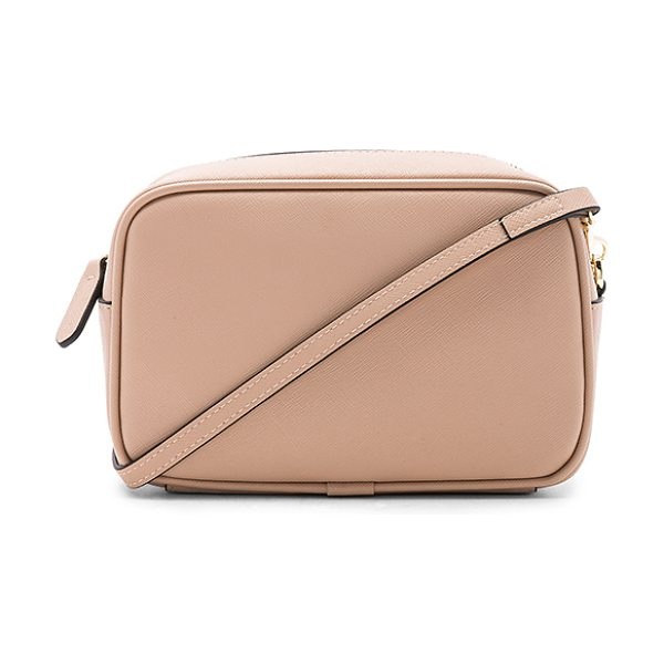 the daily edited mini cross body bag in taupe