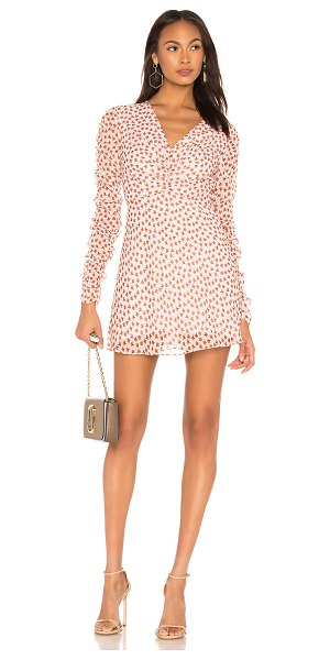 THE EAST ORDER fin mini dress in apricot floral