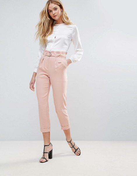 "The English Factory Pants With D-Ring Belt in pink - """"Pants by The English Factory, Smooth woven fabric,..."