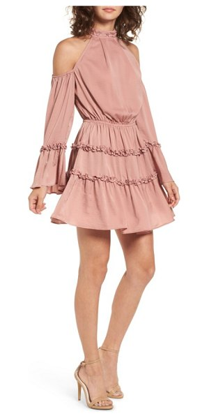 THE FIFTH LABEL banjo ruffle cold shoulder dress - Playful ruffles ring around the sleeves and skirt of...