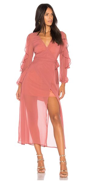 The Fifth Label Brushstrokes Maxi Dress in rose - Self & Lining: 100% poly. Partially lined. Wrap around...