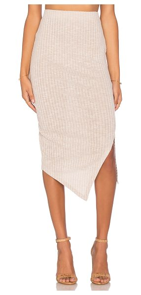 The Fifth Label Delilah skirt in beige - 65% poly 30% rayon 5% elastan. Hand wash cold. Rib knit...