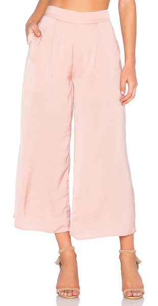 The Fifth Label Dream up pant in blush - 100% poly. Hidden back zipper closure. Side seam...