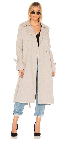 The Fifth Label Eclectic Coat in beige - 50% poly 50% cotton. Hand wash cold. Front button...