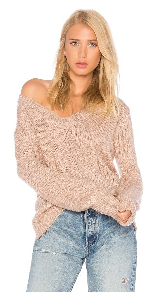 The Fifth Label Exit Knit Pullover Sweater in pink - 100% acrylic. Hand wash cold. Rib knit edges....