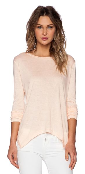 The Fifth Label Fearless long sleeve top in peach - Cotton blend. Jersey knit fabric. Intentional pilling...