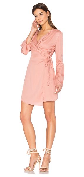 The Fifth Label Harmony Wrap Dress in pink - 100% tencel. Hand wash cold. Unlined. Wrap front with...