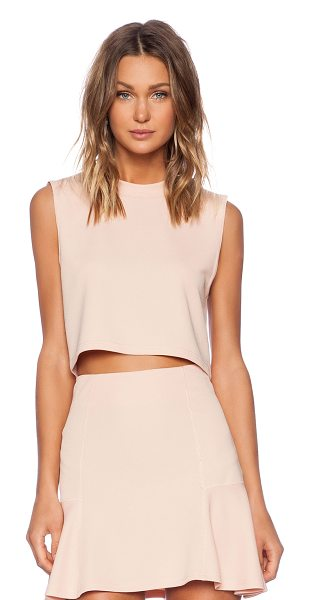 The Fifth Label Moon safari top in blush - Poly blend. Textured fabric. FIFTH-WS10. TX141150T....