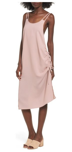The Fifth Label the future dream ruched slipdress in antique rose - Ruching at the side creates rich texture and cool...