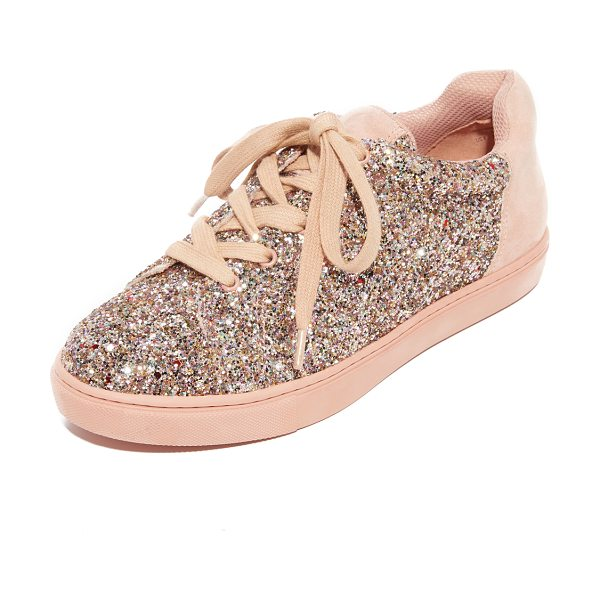 The Fix taegan platform sneakers in pink speckle/petal blush - Metallic glitter adds a touch of playful style to these...