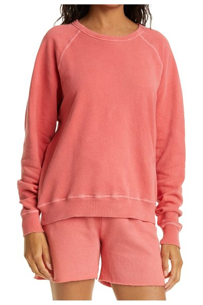 The Great the college french terry sweatshirt in coral