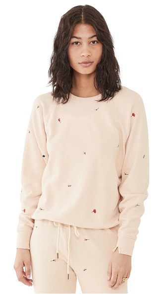 The Great the college sweatshirt in whisper pink