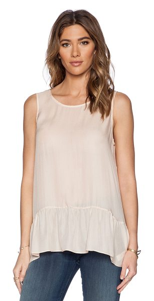 The Great The flounce tank in blush - 100% silk. Dry clean only. GREA-WS5. T001 013 830. The...