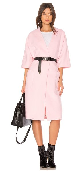 The Great The House Coat in pink - Self: 80% poly 20% woolLining: 100% poly. Dry clean...