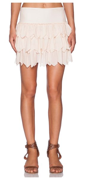 "The Great The tutu skirt in blush - 100% silk. Dry clean only. Skirt measures approx 15"""" in..."