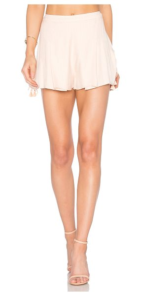 "THE JETSET DIARIES Ashanti Shorts in peach - ""Rayon blend. Hand wash cold. Drawstring shirred sides..."