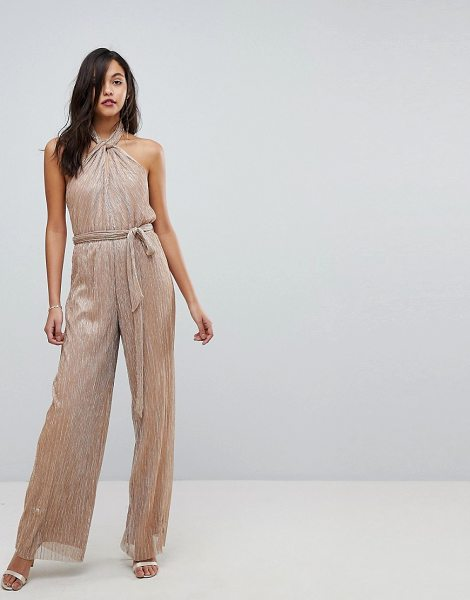 THE JETSET DIARIES Avalon Jumpsuit - Jumpsuit by The Jetset Diaries, Metallic finish, It's...