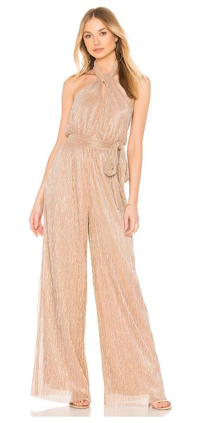 "THE JETSET DIARIES Avalon Jumpsuit in blush - ""Self: 100% polyLining: 96% poly 4% elastane. Dry clean..."