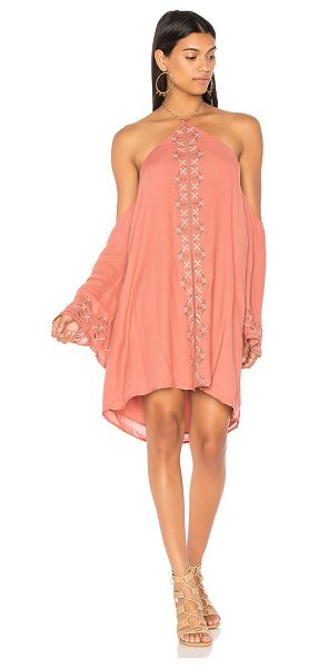 "THE JETSET DIARIES Desert Rose Mini Dress in rose - ""Self & Lining: 100% rayon. Hand wash cold. Fully lined...."