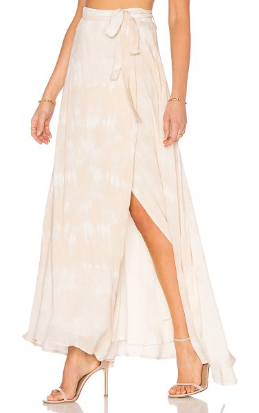 THE JETSET DIARIES Kingston Maxi Skirt in cream - 100% rayon. Hand wash cold. Fully lined. Wrap front with...