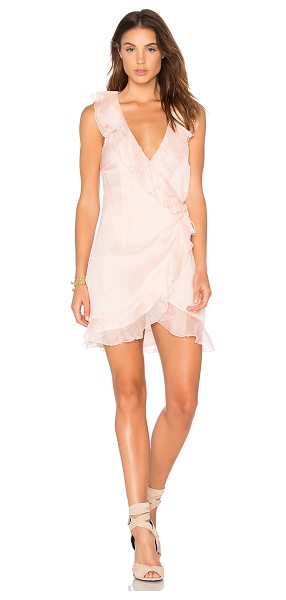 THE JETSET DIARIES Lanza Mini Dress in blush - Self: 100% polyLining: 100% rayon. Hand wash cold. Fully...