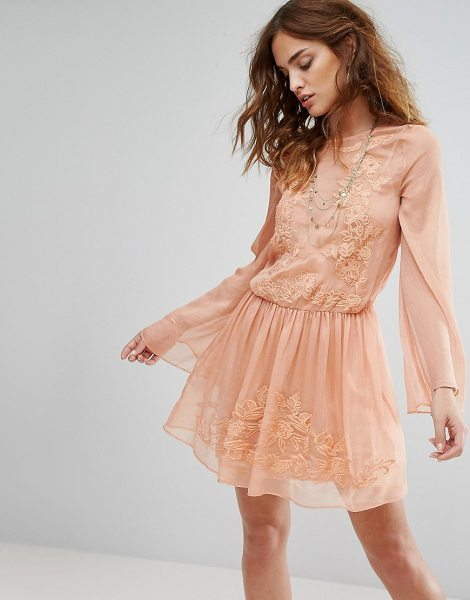 "THE JETSET DIARIES Melita Dress in pink - """"Dress by The Jetset Diaries, Sheer crinkled chiffon,..."