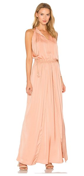 THE JETSET DIARIES Omara Maxi Dress in coral - 100% poly. Partially lined. Front keyhole neckline with...