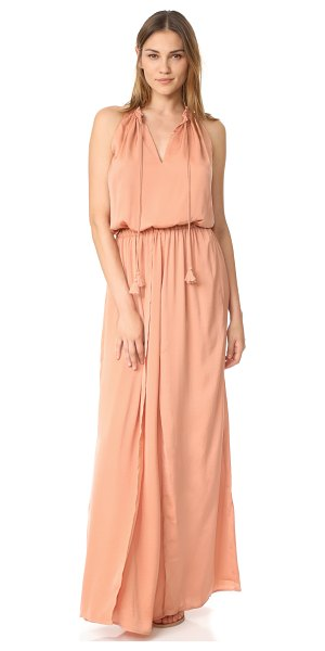 THE JETSET DIARIES omara maxi dress in copper - NOTE: Runs true to size. A crossover skirt relaxes the...