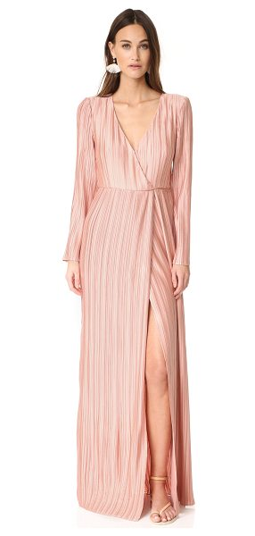 THE JETSET DIARIES primavera maxi dress in desert coral - Pleats lend allover texture to this full-length The...
