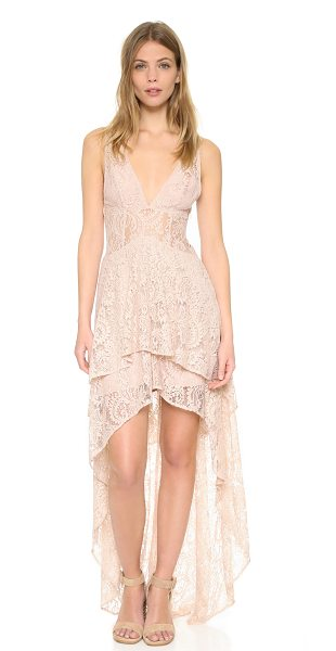 THE JETSET DIARIES resort maxi dress in nude - A graceful high-low hem lends an elegant drape to this...