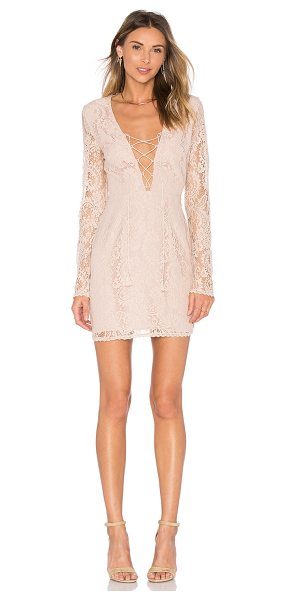 THE JETSET DIARIES Resort Mini Dress in blush - Self: 76% nylon 24% rayonLining: 100% poly. Hand wash...