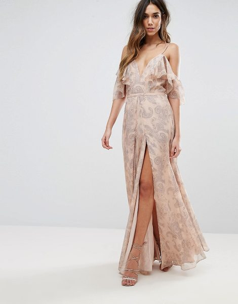 THE JETSET DIARIES Sublime Illusion Maxi Dress in pink - Maxi dress by The Jetset Diaries, Smooth woven fabric,...