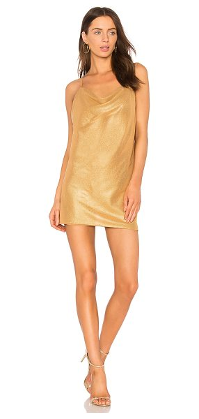 THE JETSET DIARIES Vay Cay Slip in metallic gold - Poly blend. Hand wash cold. Fully lined. Adjustable...