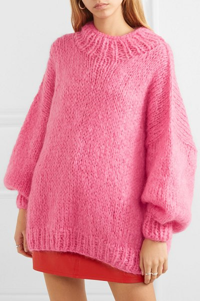 The Knitter the bubblegum mohair-blend sweater in pink