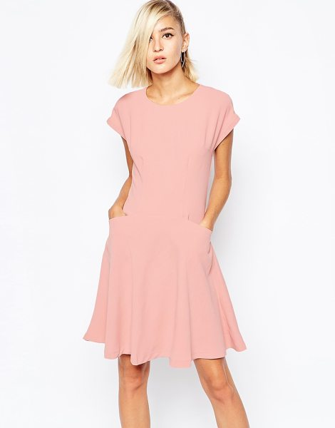 The Laden Showroom X meekat tea dress in rose in pink