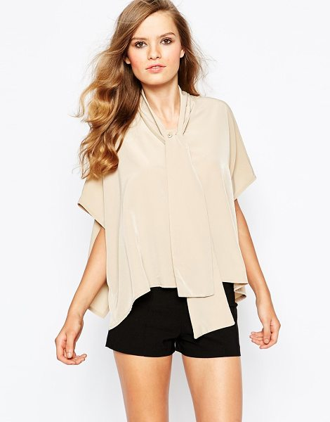 THE LADEN SHOWROOM X Mirror Mirror Pussy Bow Shirt in beige - Shirt by The Laden Showroom, Lightweight woven fabric,...