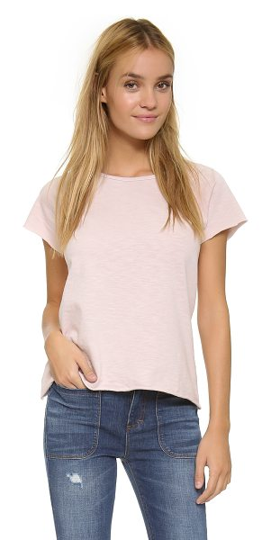 The Lady & the Sailor Raglan tee in chalky rose - Raw edges accentuate the casual look of this relaxed The...