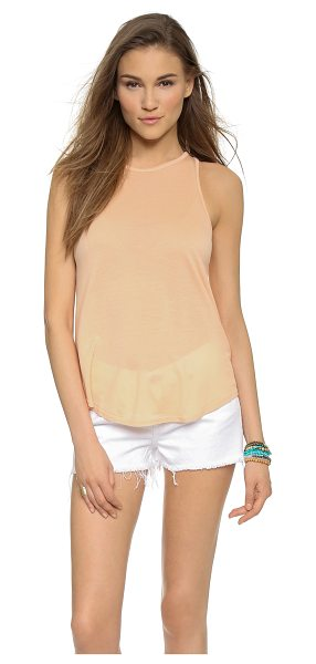 The Lady & the Sailor The bare tank in apricot - A classic The Lady & The Sailor tank with banded edges....