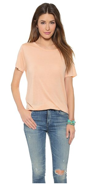The Lady & the Sailor The jersey tee in apricot - A casual tee with slim banding along the scoop neckline....