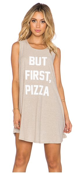 The Laundry Room But first, pizza up front dress in beige