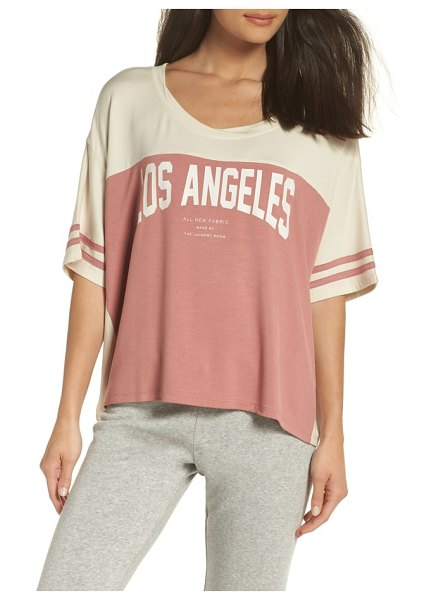 The Laundry Room los angeles crop tee in mauve/ sand - Show your love for your favorite city while you relax on...