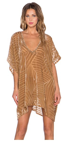 The LDRS Velvet chevron caftan dress in brown - Poly blend. Unlined. LDRS-WD5. D 450. Sweet summer vibes...