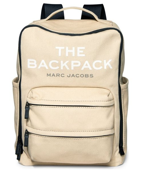 THE MARC JACOBS canvas backpack in beige