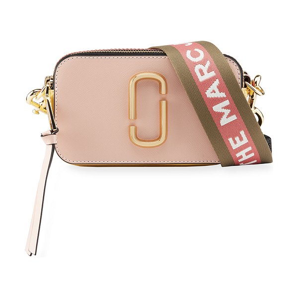THE MARC JACOBS Snapshot Colorblock Camera Bag in light pink