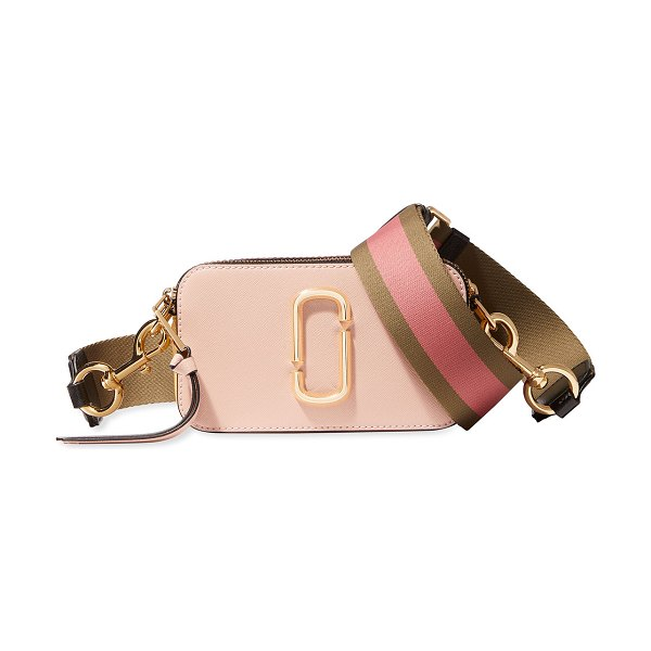 THE MARC JACOBS Snapshot Colorblock Camera Bag in dusty ruby multi