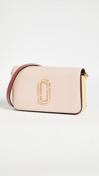 THE MARC JACOBS snapshot crossbody with chain in new rose multi
