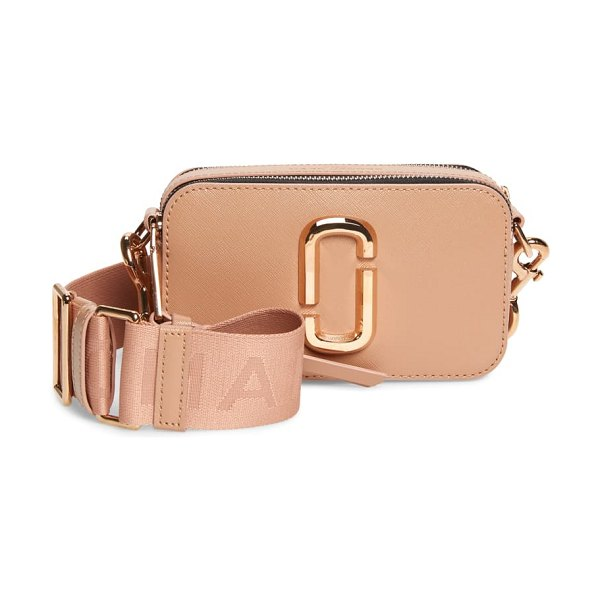 THE MARC JACOBS snapshot leather crossbody bag in pink