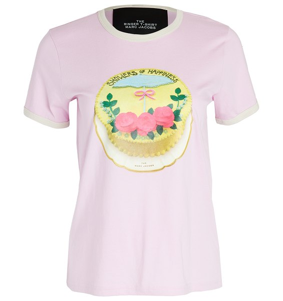 THE MARC JACOBS the ringer t-shirt in pink